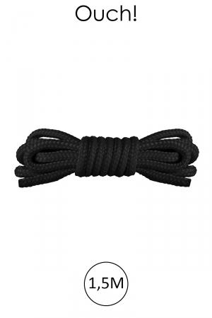 Mini corde de bondage 1,5m noire - Ouch