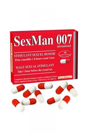 Aphrodisiaque SexMan 007 (10 gélules)