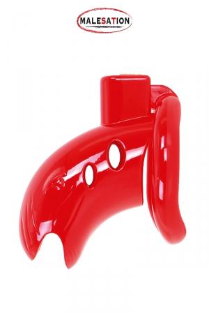 Cage de chasteté ABS rouge - Malesation
