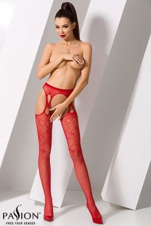 Collants ouverts S002 - Rouge