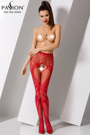Collants ouverts S007 - Rouge
