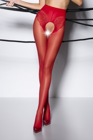 Collants ouverts TI006 - rouge