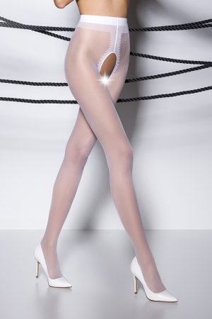 Collants ouverts TI007 - blanc