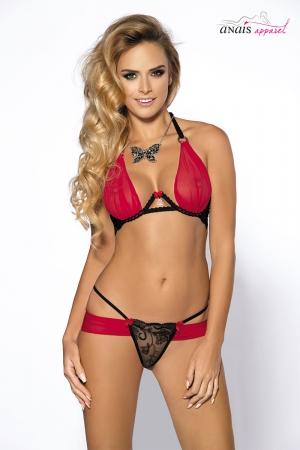 Bikini rouge et noir Jaqui - Anaïs