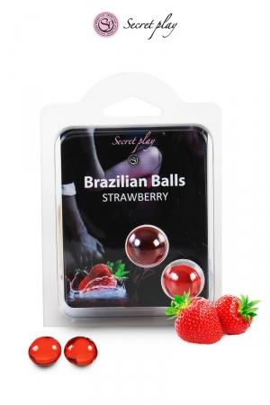 2 Brazillian balls - fraise
