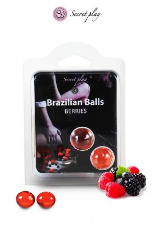 2 Brazillian balls - baies rouges