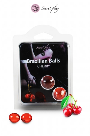 2 Brazillian balls - cerise