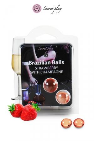 2 Brazillian balls - fraise & champagne