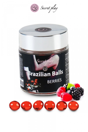 6 Brazillian balls - baies rouges