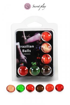 6 Brazillian balls parfums variés