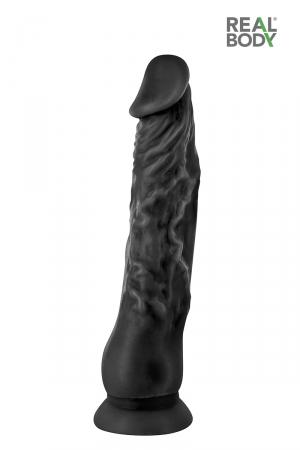 Gode réaliste 21 cm noir  - Real Justin