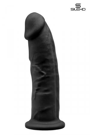 Gode double densité noir 22,5 cm