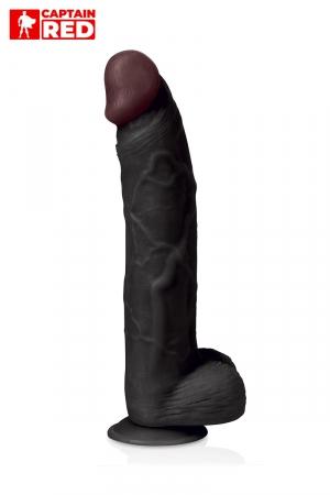 Gode XXL Prodigy Black 32 x 6 cm - Captain Red