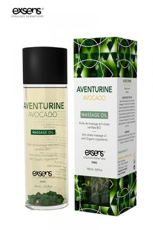 Huile massage BIO Aventurine Avocat - Exsens