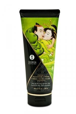 Crème de massage délectable poire et thé vert exotique -  Shunga