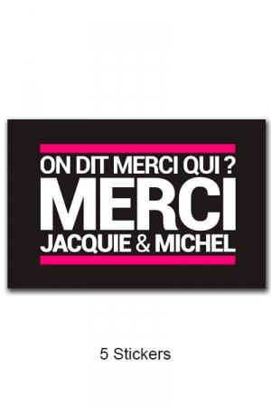 Pack 5 stickers J&M n°6
