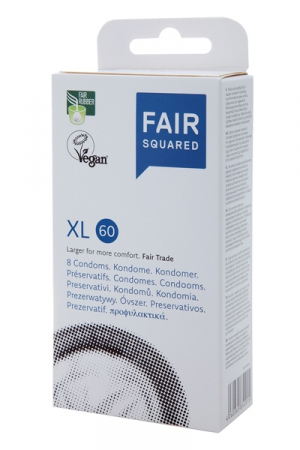 8 préservatifs Fair Squared XL 60