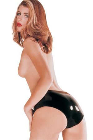 Culotte latex femme - noir
