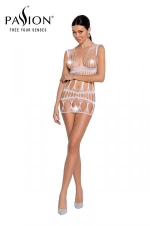 Robe nue résille BS089 - Blanc